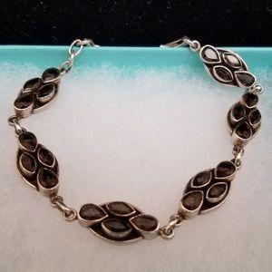 Jewelry - Sterling Silver Smoky Quartz Gemstone Bracelet